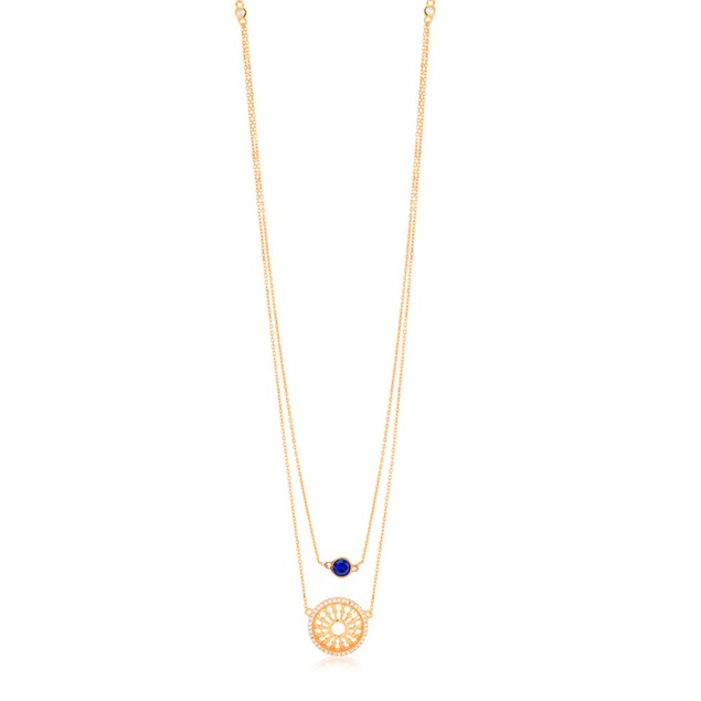 Gold Plated Sterling Silver Filigree Necklace