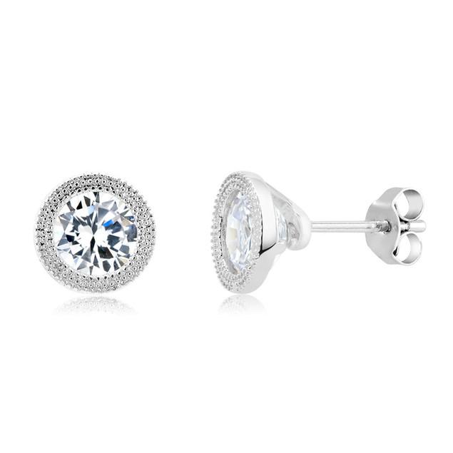 Gold Plated Imitation Diamond Deco Stud Earring