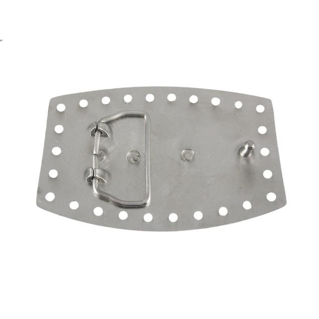 Chrome Plated Steer Head Western Belt Buckle Mens Belt Buckles