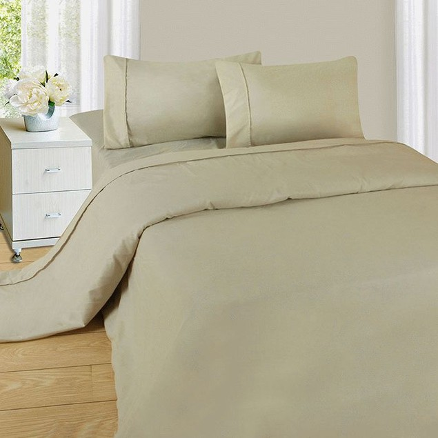 Lavish Home Series 1200 4 Piece Sheet Set - Bone