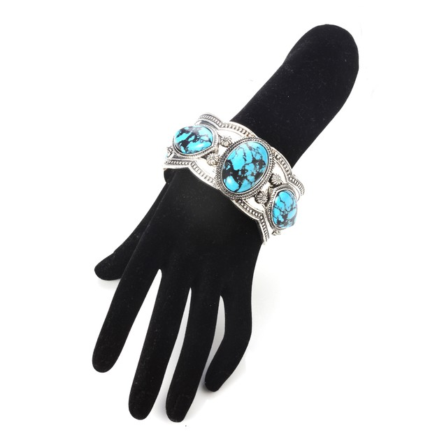 Navajo Inspired Southwest Turquoise Cuff