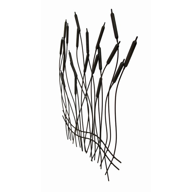 Metal Cattails Rustic Espresso Finish Metal Wall Wall Sculptures
