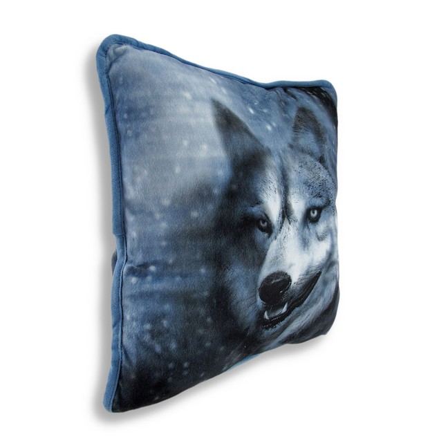 Beautiful Winter Wolf 14In.X14in. Decorative Throw Throw Pillows