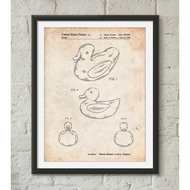 Rubber Ducky Patent Poster