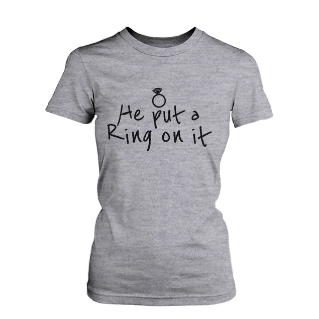 Ring On It Couple Tee His and Hers Wedding Shirts- Matching T-shirts