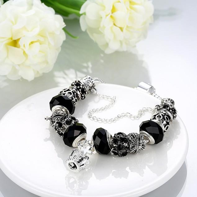 Royal Midnight Black Crown Jewel Designer Inspired Bracelet