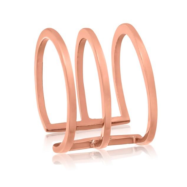 Rose Gold Tri Band Spacer Ring