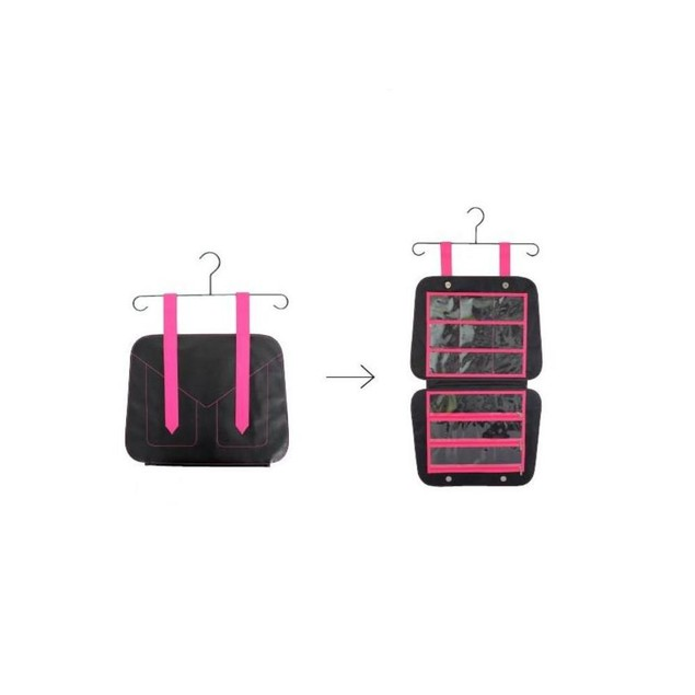Hanging Closet & Folding for travel 12 Pocket Jewelry & Accessory Organize