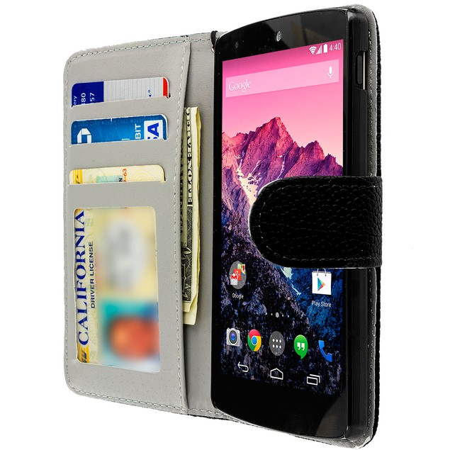 LG Google Nexus 5 Wallet Pouch Case Cover with Slots
