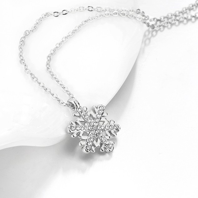 Gold Plated Snowflake Fusion Necklace