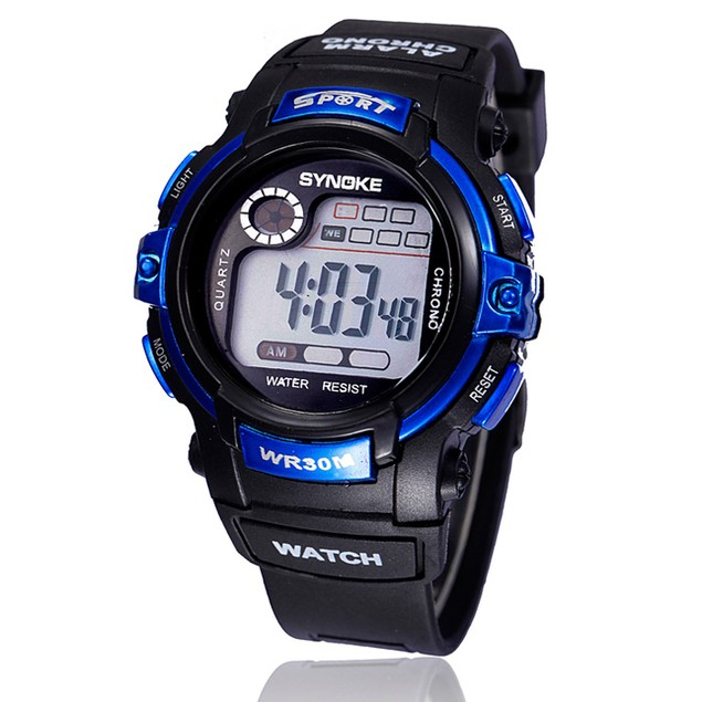 Kids Digital LED Quartz Sports Waterproof Wristwatch