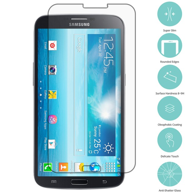 Samsung Galaxy Mega 2 Tempered Glass Film Screen Protector Clear