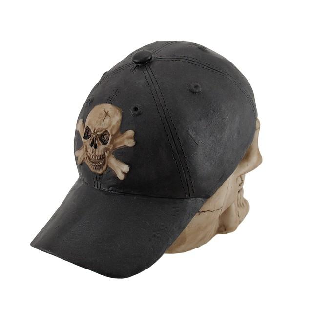 Skull And Crossbones Backward Baseball Cap Skull Statues
