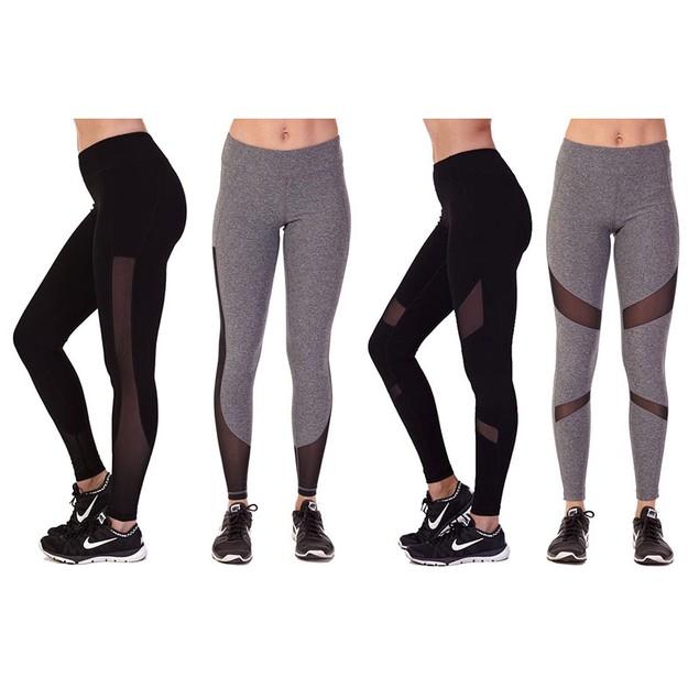 2 Pack: Central Park Mesh Performance Leggings