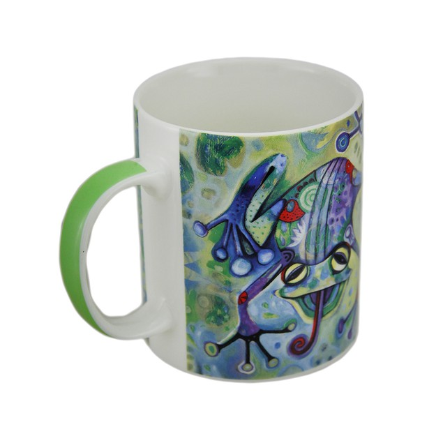 Allen Designs Whimsical Frog Design Artistic Coffee Cups