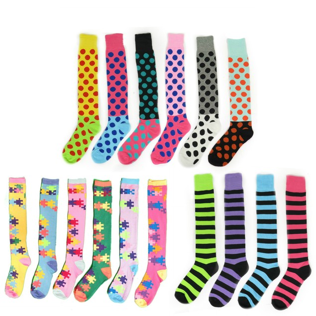 Women's Funky Colorful Patterned Knee-High Socks