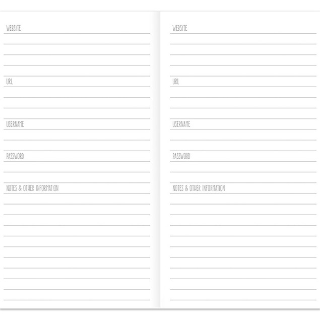 Password & Website Notebooks