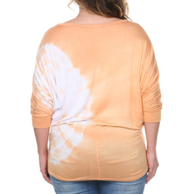 Women's Plus-size Tie Dye Tunic Top