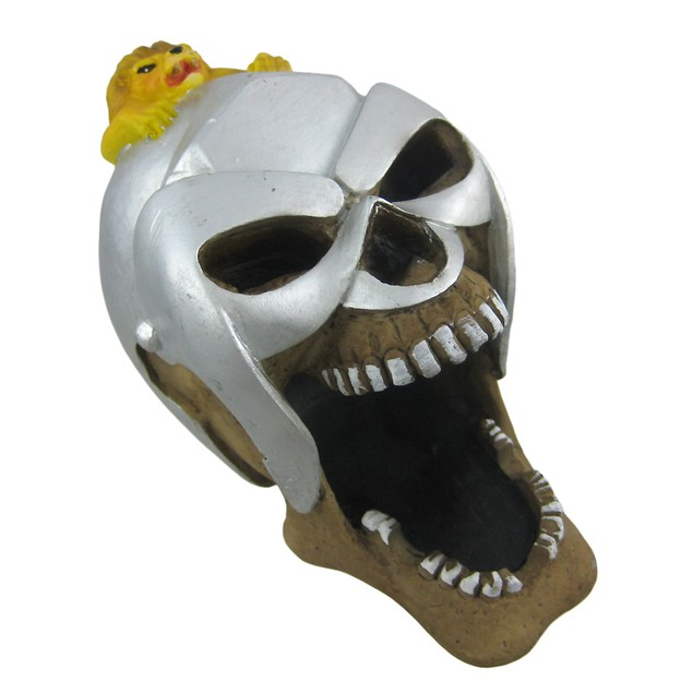 Roman Gladiator Human Skull Ashtray Ash Tray Decorative Boxes