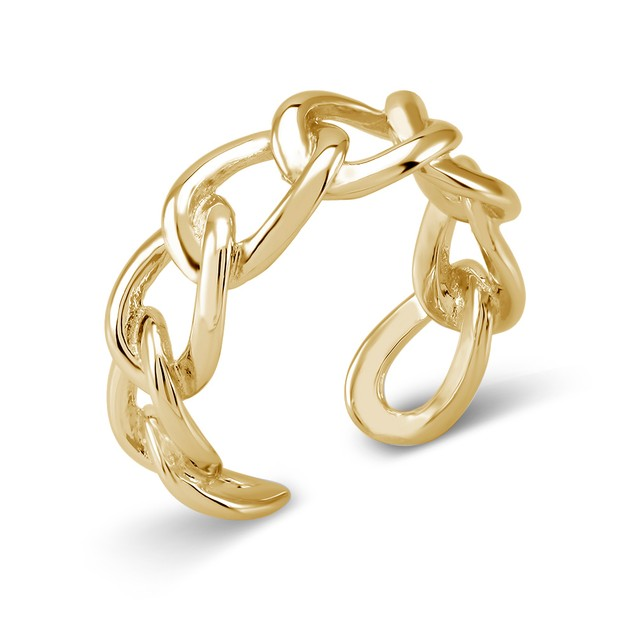 18kt Gold Plated Twirl Eternity Ring