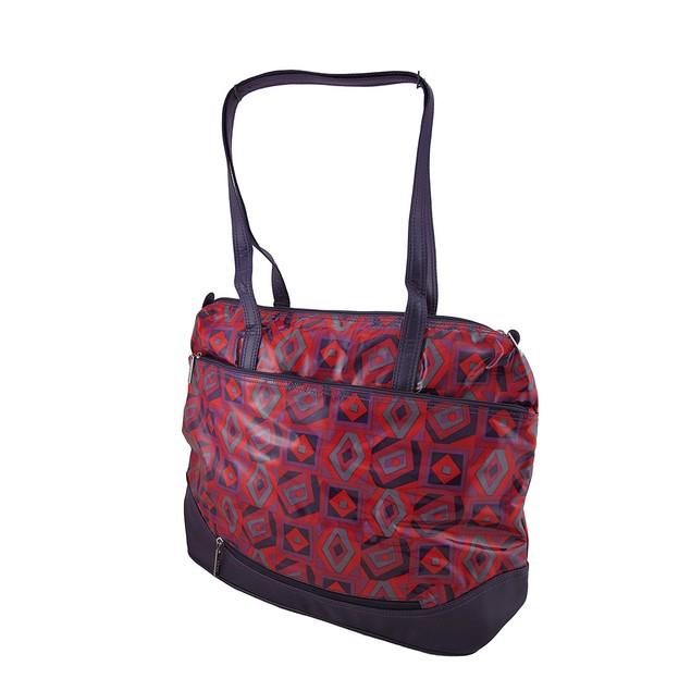 Hadaki Hannah's Tote Tic Tac Toe Berry Print Womens Tote Bags
