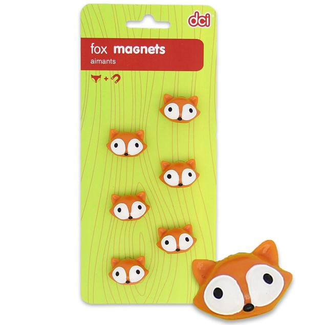 3-Pack DCI Fox Magnets (Set of 18)