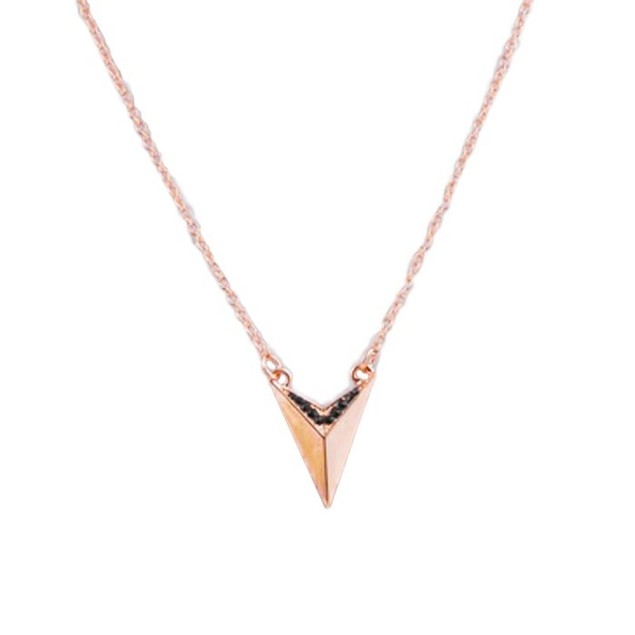 Arrowhead Necklace - Rose Gold