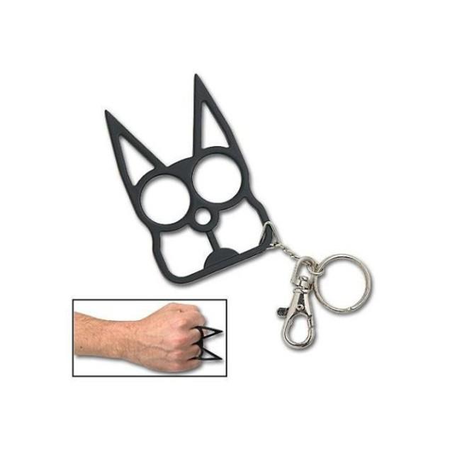 Self Defense Cat Keychain