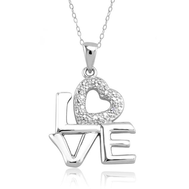 .10 Ct Diamond Accent Heart Necklace - Bulk Love