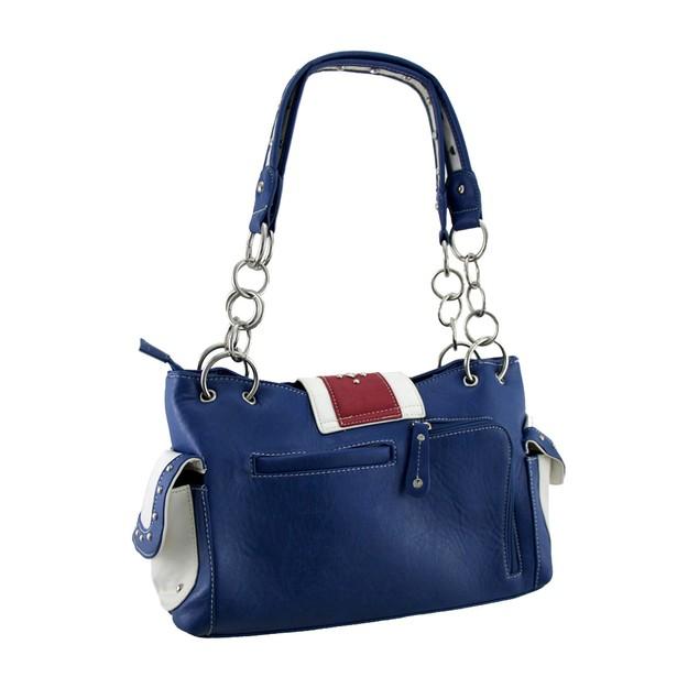 American Flag Rhinestone Buckle Western Style Womens Shoulder Handbags
