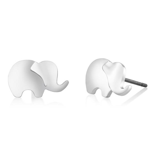 Elephant Stud Earrings - 3 Colors