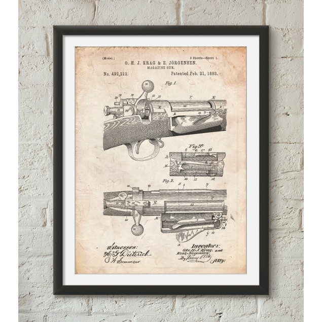 Repeating Rifle Patent Print