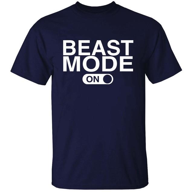 Beast Mode Short Sleeve Crew Neck Graphic Tshirt