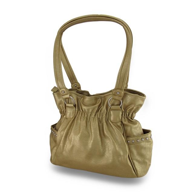 Sparkling Stripes Metallic Cinch Style Bag Womens Shoulder Handbags