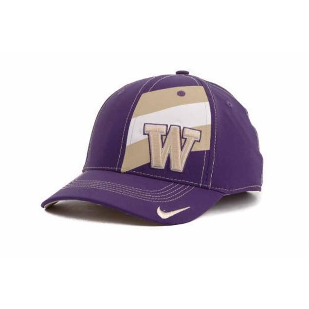 """Washington Huskies NCAA Nike Dri -Fit """"Players"""" Swoosh Flex Fitted Hat"""