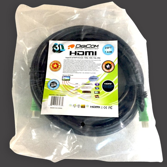 Digicom 6' Gold-Plated 1.4V Certified HDMI Cables