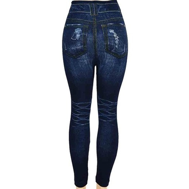 Seamless High Waist Printed Jeggings by Docele