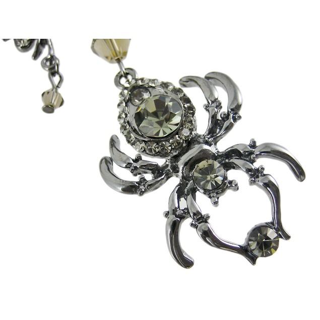 Creepy Spider Rhinestone Chandelier Necklace Womens Pendant Necklaces