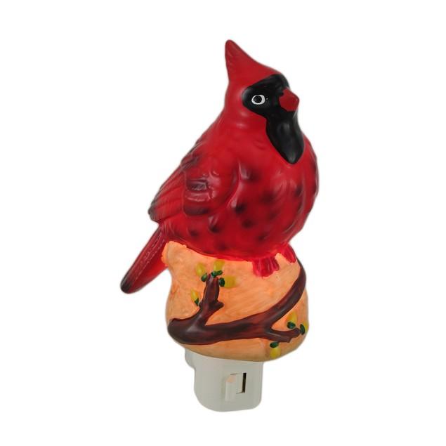 Northern Cardinal Porcelain Night Light Night Lights