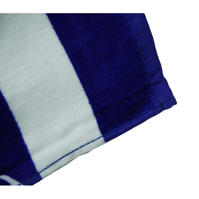 Blue And White Compass Rose Cotton Velour Beach Beach Towels