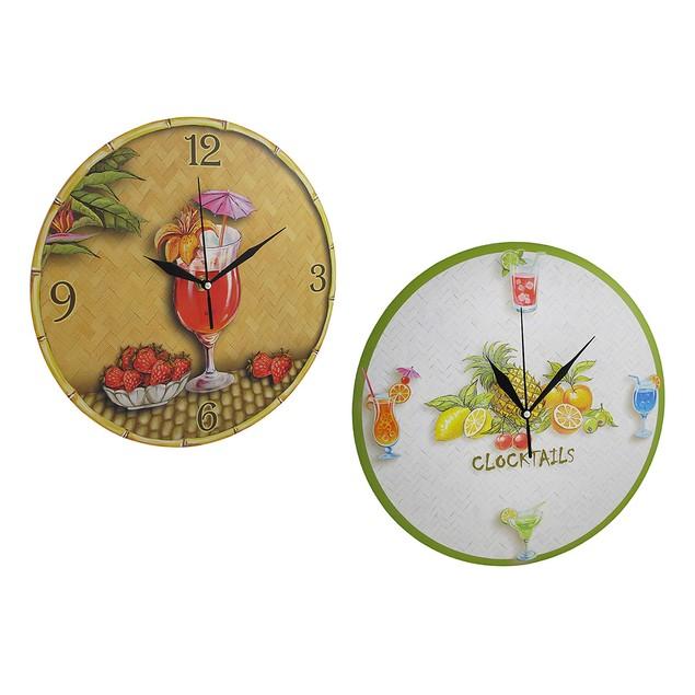 Pair Of Tropical Drink Themed Wall Clocks Wall Clocks