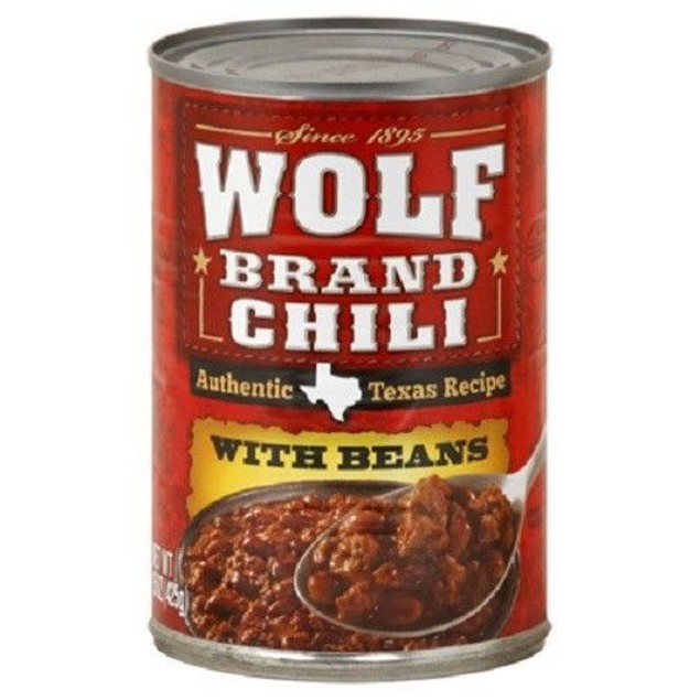Wolf Brand Chili With Beans 15oz Can