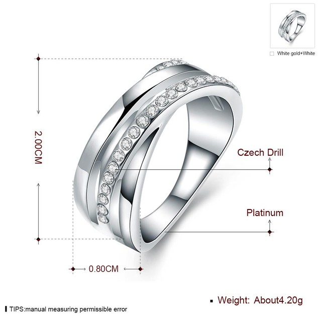 Crystal Layered-Look Ring