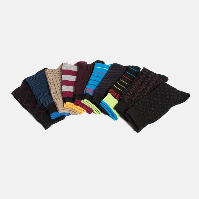 10-Pack Men's Bevery Hills Polo Club Socks