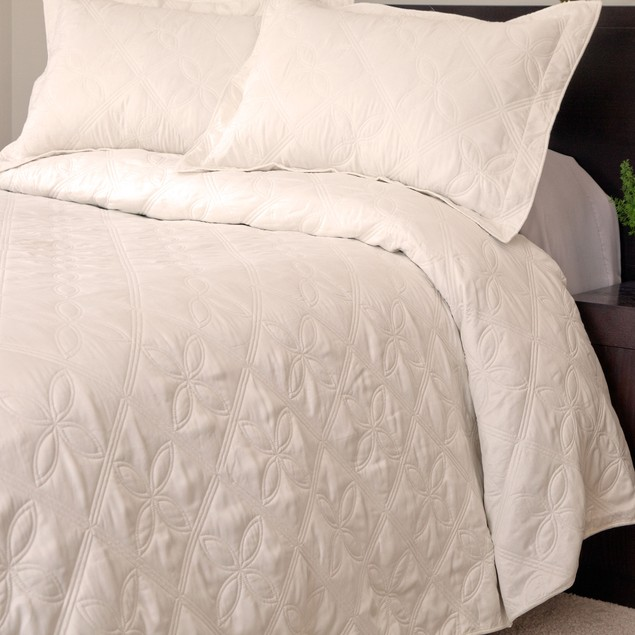 Lavish Home Andrea Embroidered Quilt 3 Pc. Set