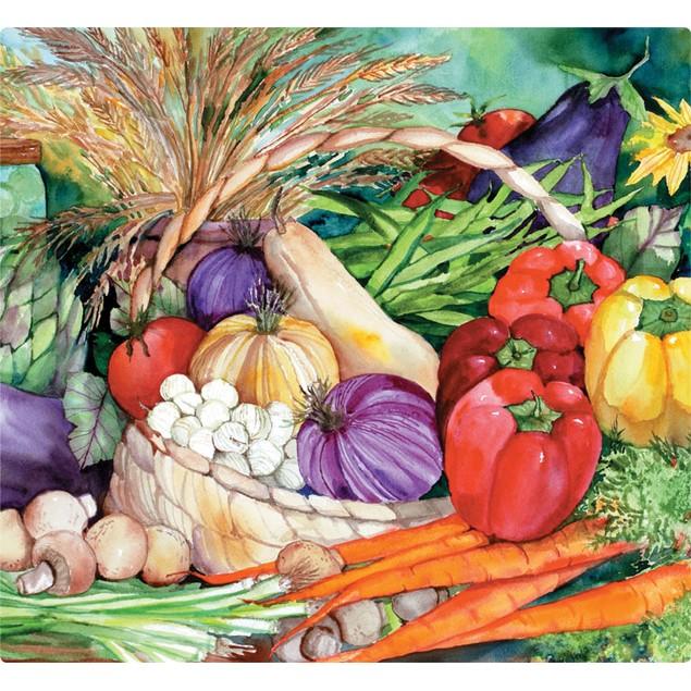 """Magic Chop - Chef Size 11.5"""" x 12.5"""" """"Vegetable Medley"""" Cutting Board"""
