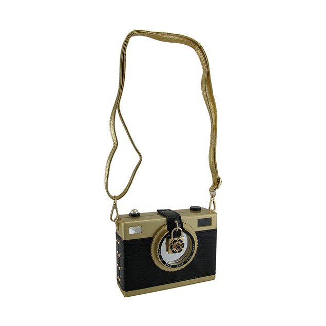 Say Cheese Charming Hard Shell Retro Camera Clutch Womens Clutch Handbags