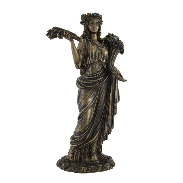 Greek Goddess Of Harvest Demeter Bronzed Statue Statues