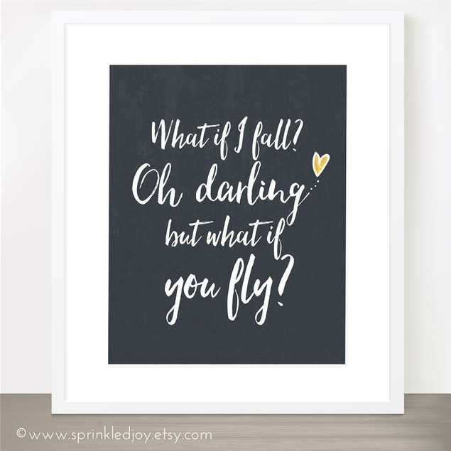 Oh Darling, What If You Fly 8x10 Print