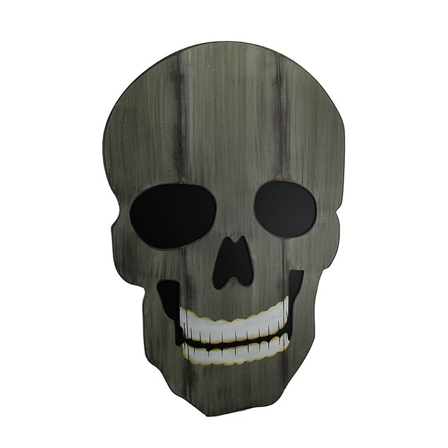 Creepy Distressed Finish Giant Skull Wood Wall Decorative Wall Plaques